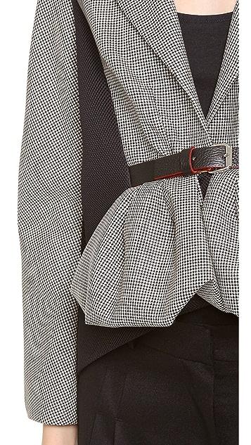 David Szeto Belted Peplum Jacket