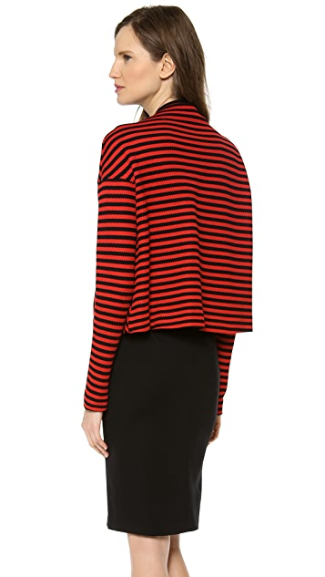 David Szeto Gab J Stripe Knit Bolero
