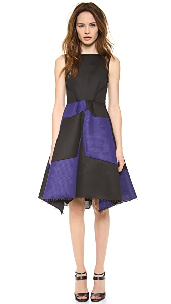 David Szeto Maria Silva Perf Neoprene Dress