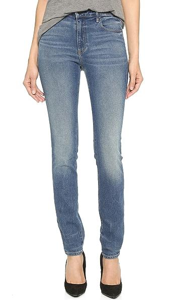 Denim x  Alexander Wang 001 Slim Fit High Rise Jeans