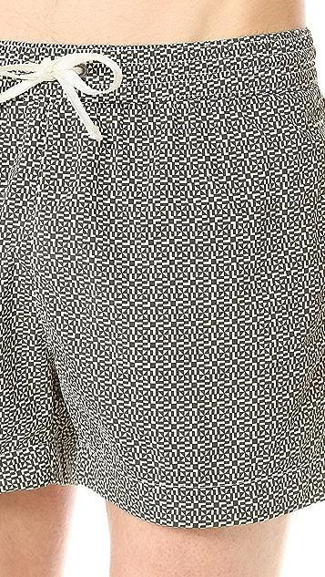Dan Ward Mini Mosaic Swim Trunks