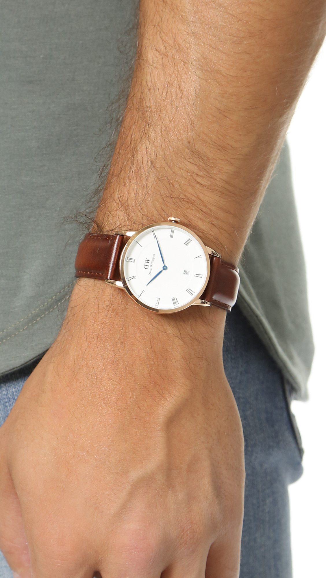 Dapper Leather Band 38mm Watch StMawes rxBWCdoe