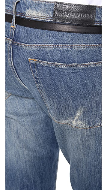 EACH x OTHER Vestiaire Slouchy Jeans with Leather Band