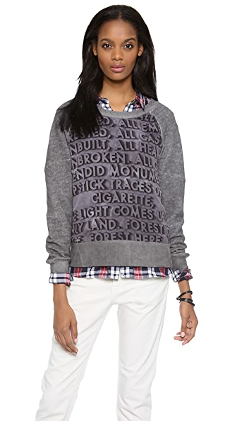 EACH x OTHER Robert Montgomery Panel Sweatshirt