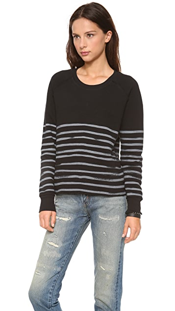 EACH x OTHER Naco Waffle Stripe Sweatshirt