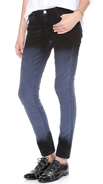 EACH x OTHER Alessandra D'Urso Skinny Deep Dye Corduroy Pants