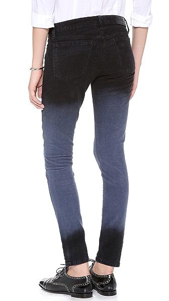 EACH x OTHER Alessandra D'Urso Skinny Deep Dye Corduroy Pants ...