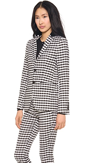 EACH x OTHER Gingham Jacket