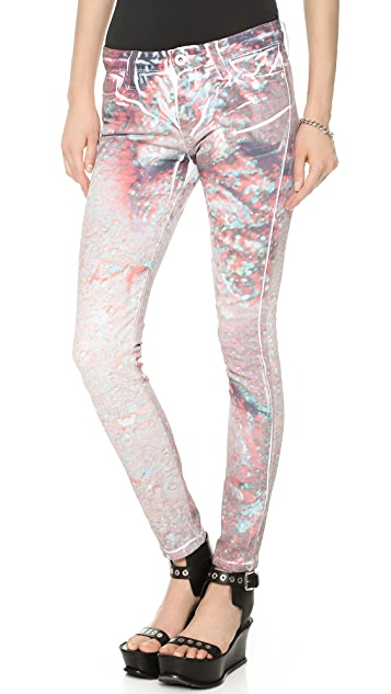 EACH x OTHER Kolkoz 3D Moon Print Jeans