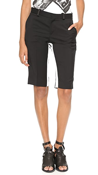 EACH x OTHER Fabio Paleari Tuxedo Shorts with Leather Detail