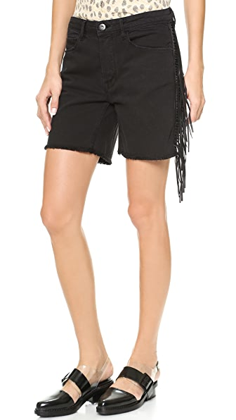 EACH x OTHER Ruiz Stephinson Leather Fringe Shorts