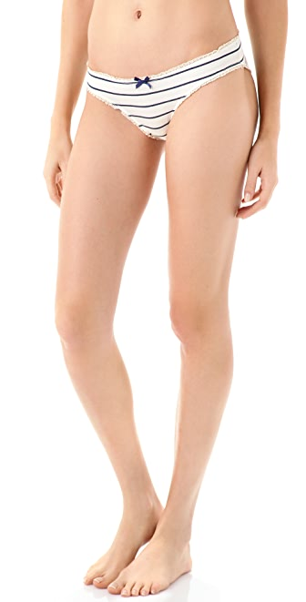 Eberjey Coastal Stripes Bikini Briefs