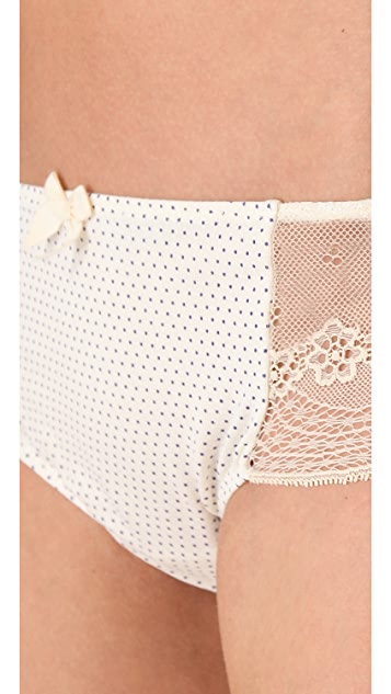 Eberjey Scattered Dots Lace Bikini Briefs