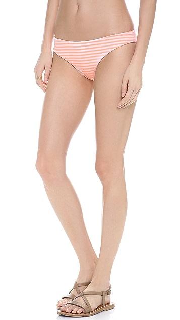 Eberjey Sea Stripe Reversible Valentina Bikini Bottoms