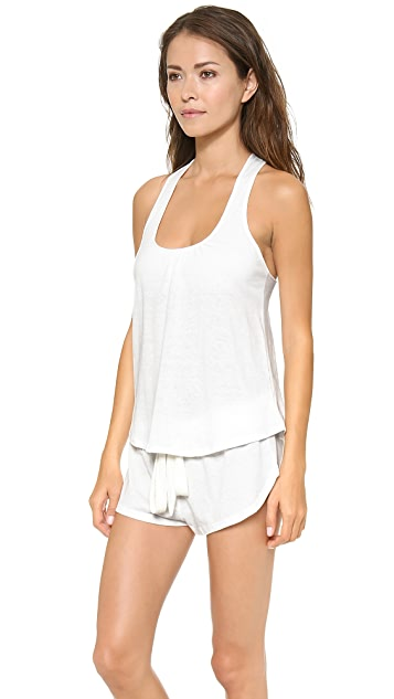 Eberjey Heather Racer Back Tank