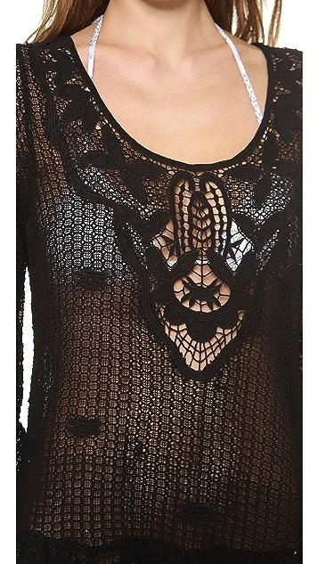 Eberjey Traveler Natalya Peplum Cover Up Dress