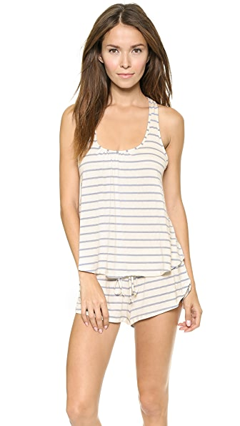 Eberjey Lounge Stripes Racer Back Cami