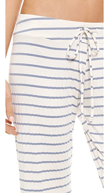 Eberjey Lounge Stripes Wide Leg Pants