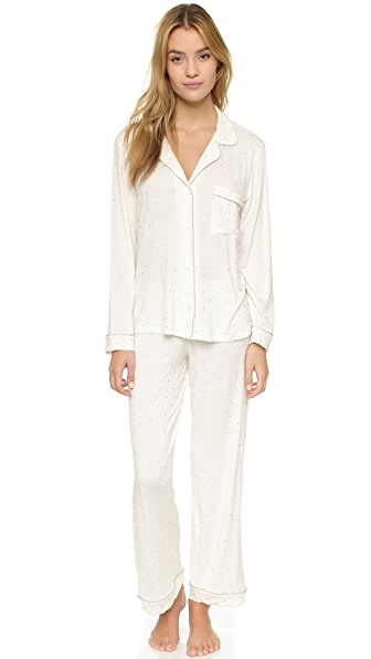 Eberjey Metallic Dots PJ Set - Sterling Dots