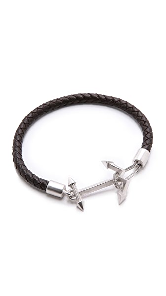 Eddie Borgo Ship Weight Leather Bracelet