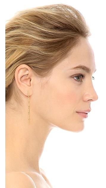 Eddie Borgo Peaked Link Linear Drop Earrings