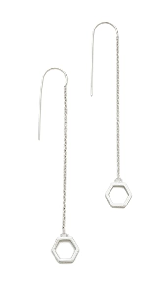 Eddie Borgo Halo Drop Earrings - Silver