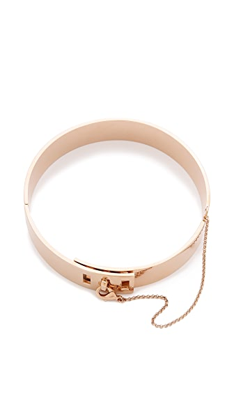 Eddie Borgo Safety Chain Choker Necklace - Rose Gold