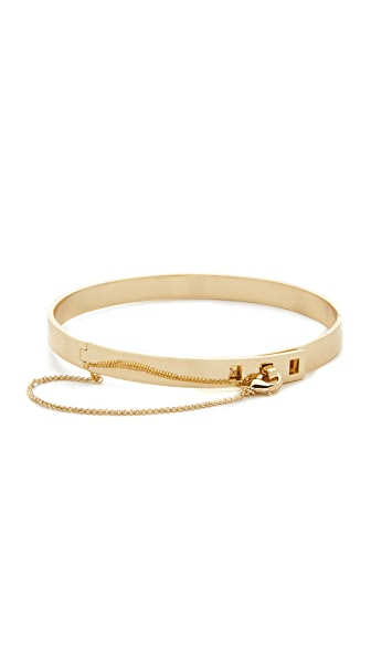 Eddie Borgo Small Safety Chain Choker Necklace In Gold
