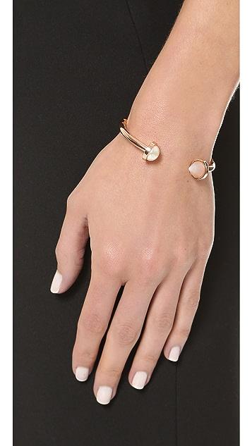 Eddie Borgo Inlaid Bicone Hinged Bracelet