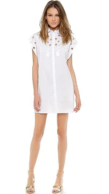 Emma Cook Embroidered Shirt Dress