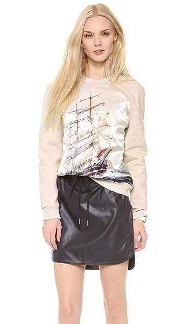 Emma Cook Satin Front Sweatshirt