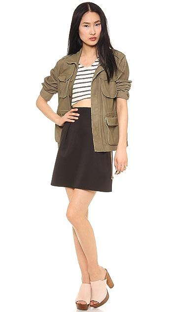 Emma Cook Solid Scuba Skirt