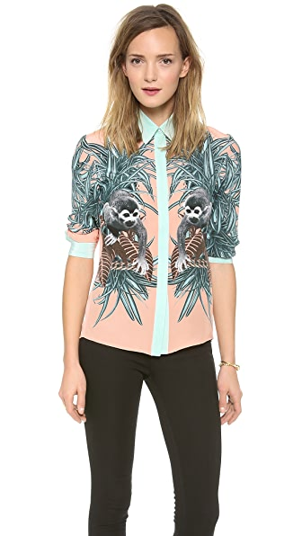 Emma Cook Silk Monkey Blouse