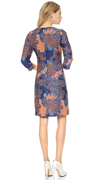 Emma Cook Paisley Jacquard Shift Dress