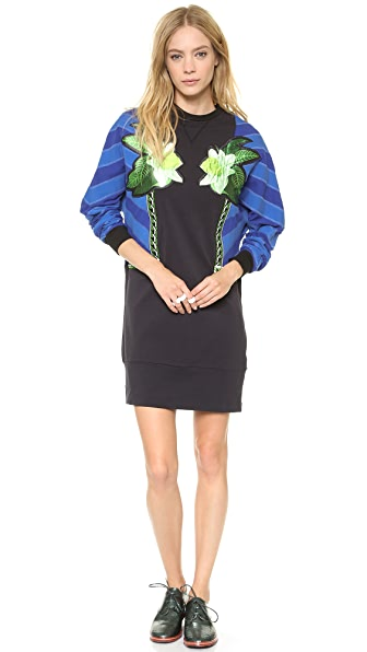 Emma Cook Lux Applique Sweatshirt Dress