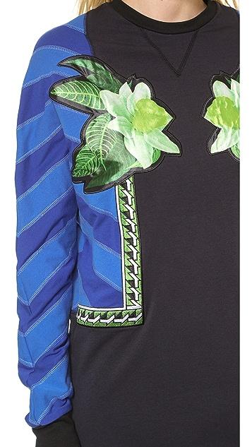 Emma Cook Lux Applique Sweatshirt Dress