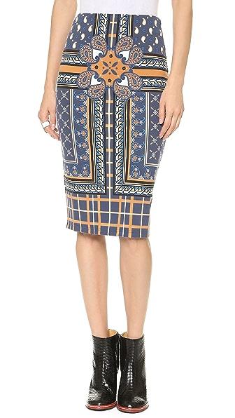 Emma Cook Paisley Scarf Skirt