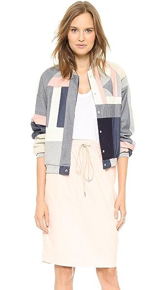 Emma Cook Patchwork Bomber Jacket