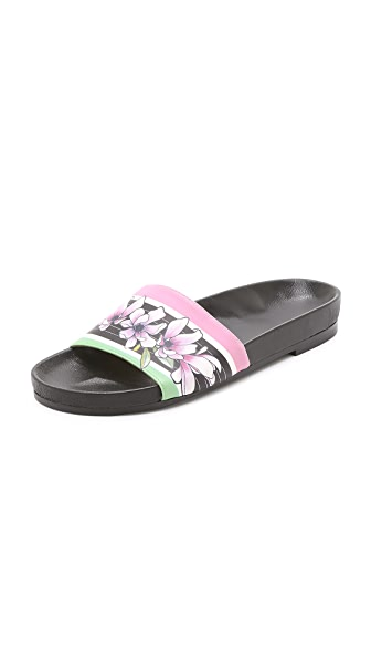 Kupi Emma Cook online i prodaja Emma Cook Floral Stripe Pool Slides Pink Magnolia Stripe haljinu online