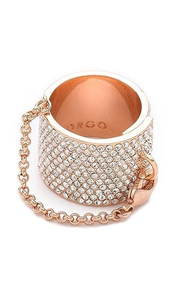 Eddie Borgo Pave Safety Chain Ring