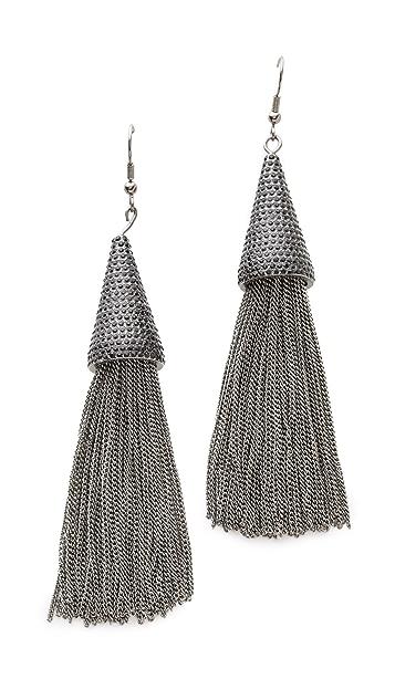 Eddie Borgo Pave Cone Tassel Earrings