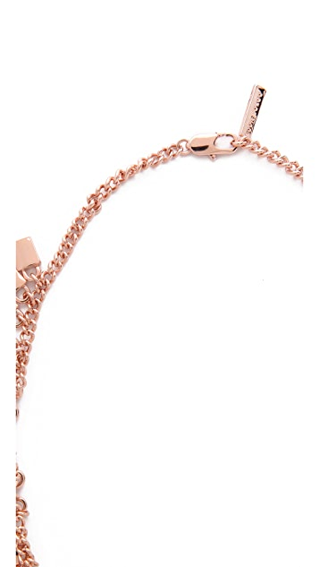 Eddie Borgo Small Padlock Spray Necklace