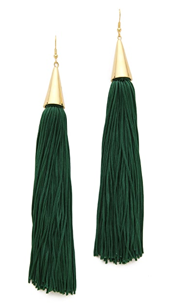 Eddie Borgo Tassel Cone Earrings