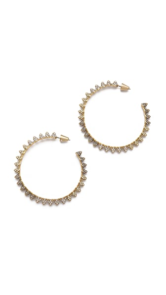 Eddie Borgo Pave Small Cone Hoop Earrings