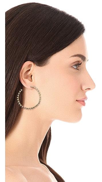 Eddie Borgo Pave Small Cone Hoop Earrings