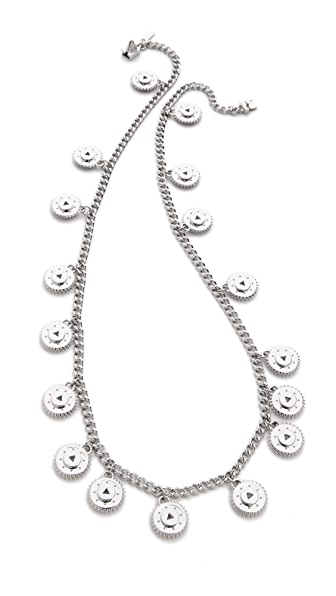 Eddie Borgo Medallion Charm Necklace