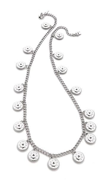 Eddie Borgo Medallion Charm Necklace
