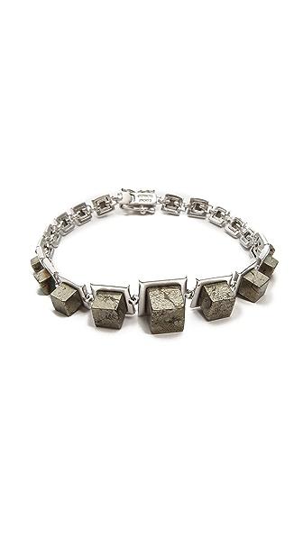 Eddie Borgo Graduated Cube Bracelet