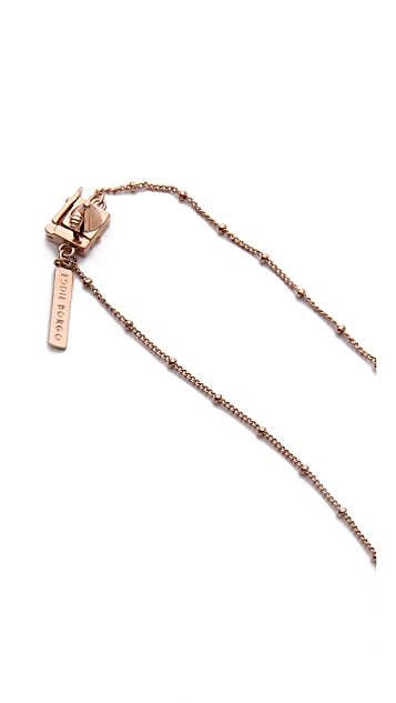Eddie Borgo Small Silk Tassel Pendant Necklace