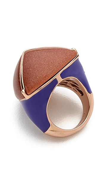 Eddie Borgo Inlaid Three-Sided Pyramid Ring
